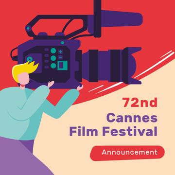 Cannes Film Festival with Man shooting Film