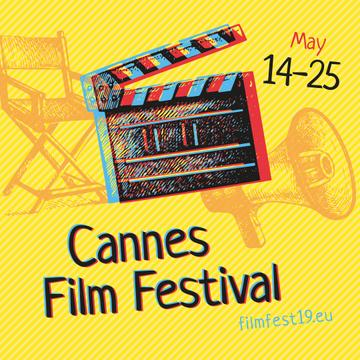 Cannes Film Festival Announcement with Movie Clapper