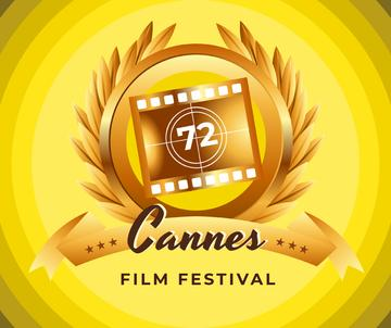 Cannes Film Festival golden frame