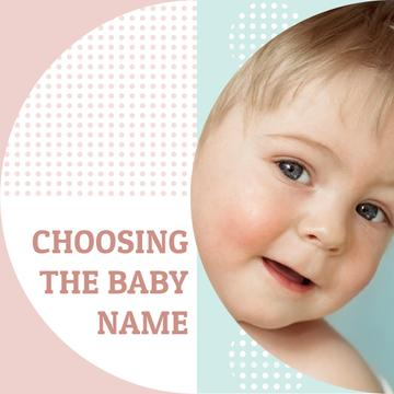 Baby Name concept with Happy little kid