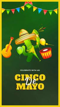 Cinco de Mayo Mexican Dancing Cactus