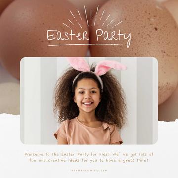 Easter Girl in Bunny Ears