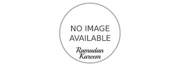 Golden mosque under Ramadan moon