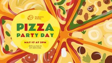 Pizza Party Day Invitation Hot Slices