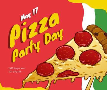 Pizza Party Day tasty slice