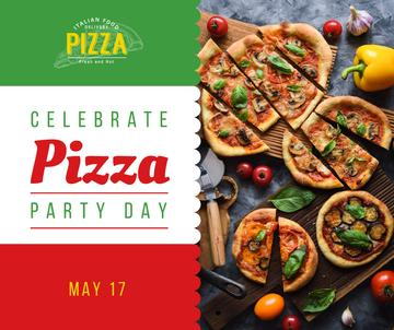 Pizza Party Day tasty slices