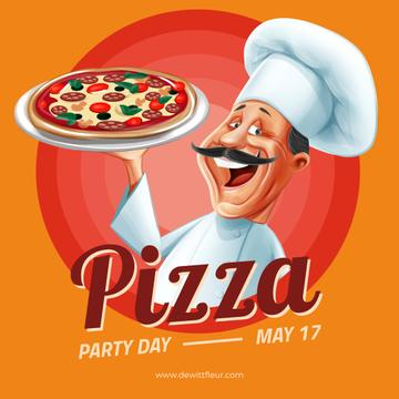 Pizza Party Day with Smiling Chef