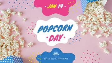 Popcorn Day Celebration Hot Popcorn in Carton