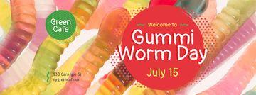 Gummi worm candy Day