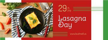 Italian lasagna dish Day
