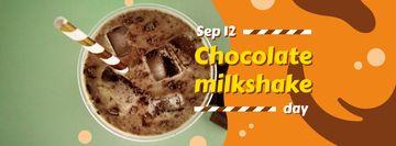 Sweet chocolate milkshake