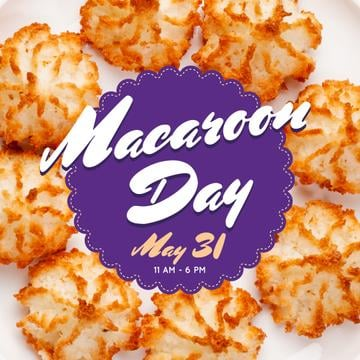 Sweet macaroon cookies Day