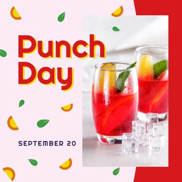 Punch drink day on Fruits pattern