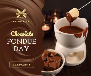 Hot chocolate fondue day celebration