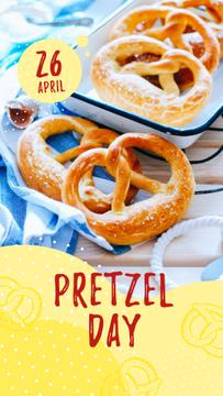 Delicious baked pretzels on Pretzel Day