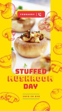 Stuffed mushroom day