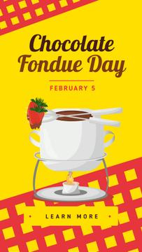 Hot chocolate fondue