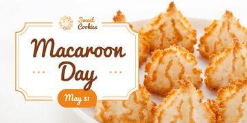 Sweet macaroon cookies