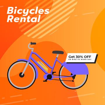 Bike to Work Day Offer with Modern purple bicycle