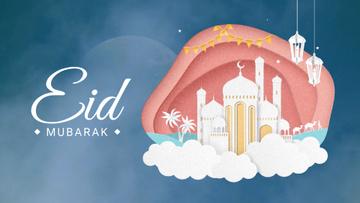Eid Mubarak White Mosque