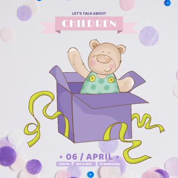 Teddy bear in Gift box