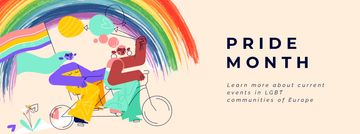 Pride Month Women on Bicycle