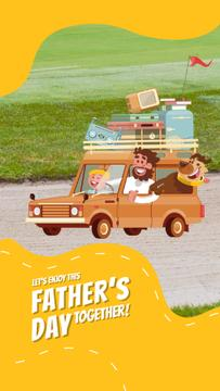 Father's Day Happy Family in Car