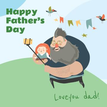 Father with daughter taking selfie on Father's Day