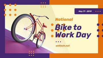 Bike to Work Day Greeting Modern City Bicycle