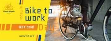 Man riding bicycle on Bike to work Day