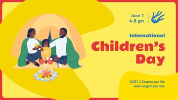 Children's Day Celebration Happy Kids on a Playground