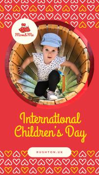 Little girl on playground on Children's Day