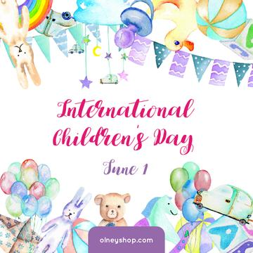 Kids toys and decoration on Children's Day