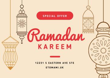 Ramadan Kareem Offer with Lanterns
