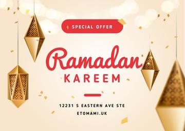 Ramadan Kareem Offer with Lanterns