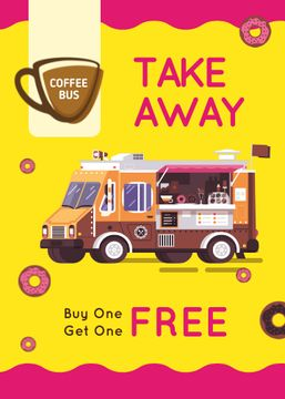 Bus with Coffee to-go offer