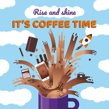 Creative icons in Coffee splash