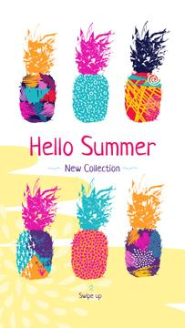 Summer Promotion Colorful Pineapple Prints