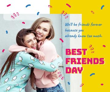 Young girls hugging on Best Friends Day