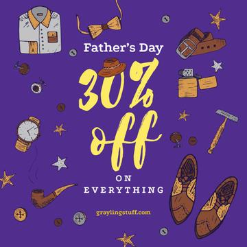 Stylish male accessories on Father's Day