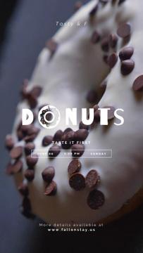 Bakery Offer Sweet Doughnut