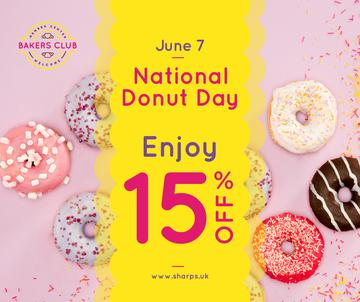 Delicious glazed Donuts day sale