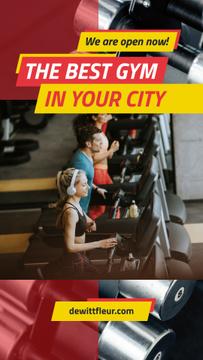 People training on treadmills