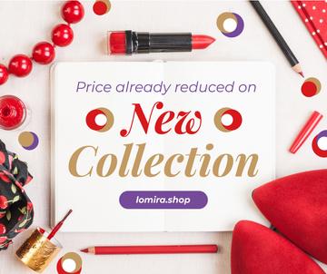 Makeup Offer Red Cosmetics Set