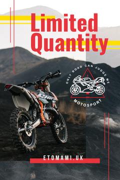 Motorbike on dirty road
