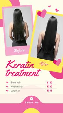 Female hair before and after treatment