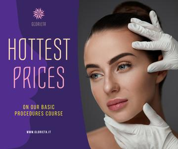 Cosmetology Procedures promotion Woman at Beauty Clinic