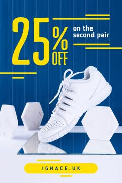 Sport Shoes Sale White Shoe on Blue