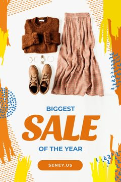 Clothes Sale Female Outfit in Brown Color