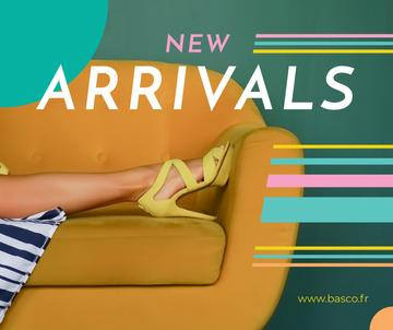 Fashion Ad with Female Legs in Heeled Shoes